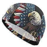 Gorro Natación Águila Americana Gorro de Piscina para Hombre y Mujer Hecho de Silicona Ideal para Pelo Largo y Corto
