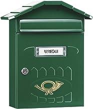 Arregui Villa E5003 Individuele brievenbus van staal, maat M (DIN A4), groen, 36 x 29,8 x 12 cm