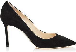 JIMMY CHOO Luxury Fashion Womens ROMY85SUEBLACK Black Pumps | Fall Winter 19