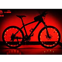 YINKUU 自転車ホイールライト 自転車タイヤ ライト 防水 LEDホイールライト 20LEDフラッシュライト 自転車装飾ライト サイクリング 夜道安全 事故防止 学生 通勤 通学