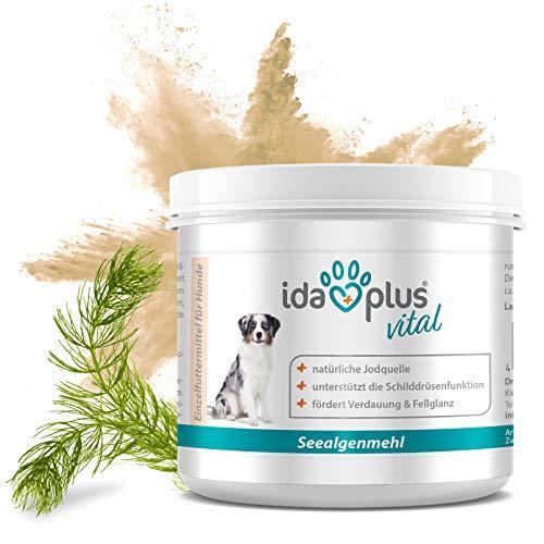 Ida Plus–barf Mar algas Harina | relleno adicional para perros | alta contenido de minerales naturales, fuente de yodo | 100% Producto natural