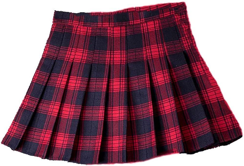NP Waist Stitching Student Pleated Skirt Feminine Cute Sweet Girl Dance Mini Skirt