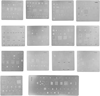 Bewinner Multi-Purpose BGA Reballing Stencil ?14 Pieces Professional Planting Tin Net BGA IC Chipset for iPhone ?High Precision Repair Tools for iPhone