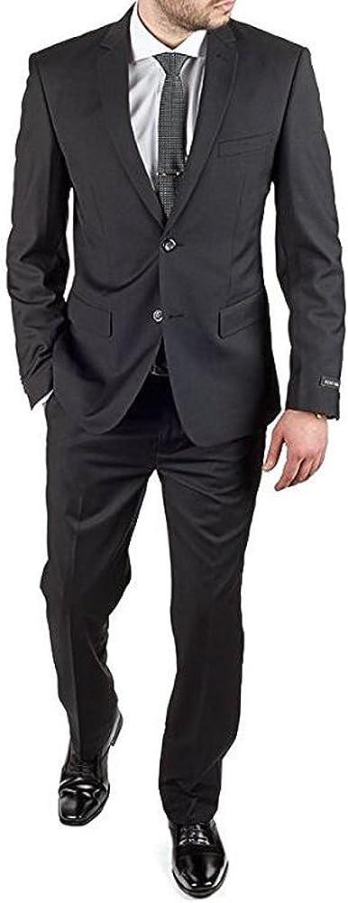 Botong Black Men Suits Peak Lapel 2 Pieces Wedding Suits Groom Tuxedos