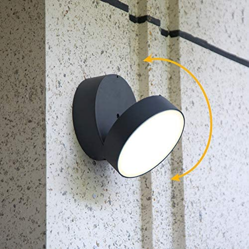 LUTEC Trumpet Indoor Outdoor Modern LED Wall Light Fixtures Decor Adjustable 20W Warm White product image