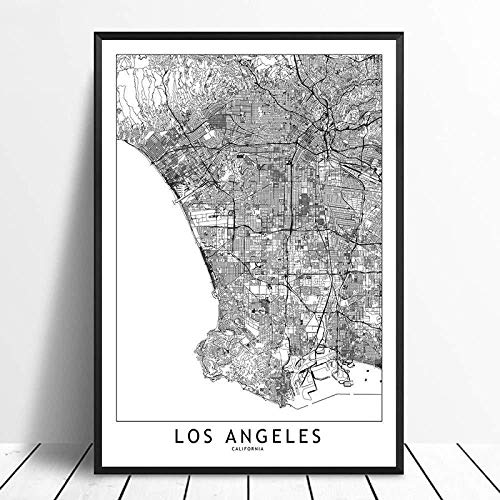 Canvas prints Painting Posters Antwerp Black White Custom World City Map Poster Pictures Print On Canvas Nordic Style Wall Art Canvas Paintings For Home Decor No Frame-16x20_Inch(40cmX50cm)