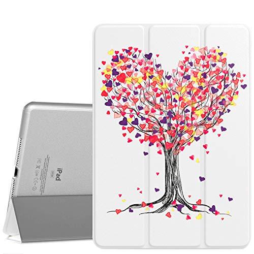 MoKo Funda para iPad Air 2, Ultra Delgado Función de Soporte Protectora Plegable Cubierta Inteligente Trasera Transparente para iPad Air 2 9.7
