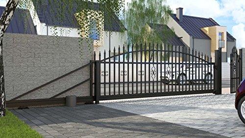 Einfahrtstor Schiebetor Bellevue 600cm Komplett-Set mit E-Antrieb Hoftor