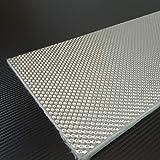 Schlauchland 0,5m x 0,5m Alu-Keramik Hitzeschutzmatte Ultra selbstklebend ***Turbo Auspuff Krümmer Isoliermatte Hitzeschutzfolie