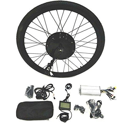 """48V1500W Hub Motor Ebike Kit vélo électrique moteur Kit de conversion pour cyclisme + LCD+ Tire Theebikemotor (Front Wheel, 26"""")"""