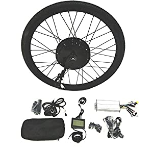 Electric Bikes theebikemotor 48V2000W Hub Motor Electric Bike Conversion Kit Sine-Wave Controller + Tire + LCD Display