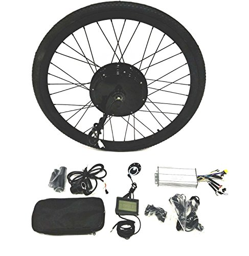 theebikemotor 48V1500W Hub Motor Electric Bike Conversion Kit + LCD+ Tire (Rear Wheel, 27.5')