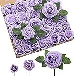 derblue-60pcs-three-different-sizes-artificial-roses-flowers-foam-roses-bulk-wstem-for-diy-wedding-bouquets-corsages-centerpieces-arrangements-baby-shower-cake-flower-decorations-lilac