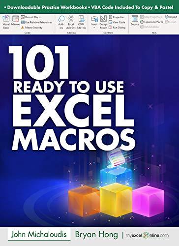 101 Ready To Use Microsoft Excel Macros: MyExcelOnline.com (101 Excel Series Book 2) Massachusetts