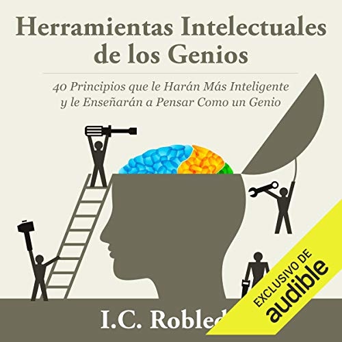 Diseño de la portada del título Herramientas Intelectuales de los Genios (Narración en Castellano)