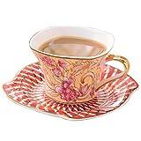 Haoshangzh25 Set Tazza e piattino da caffè Bone China Home Cafe Office e Hotel Tazza in Ceramica Afternoon Tea Lounge Set Tazza da tè 101-200Ml