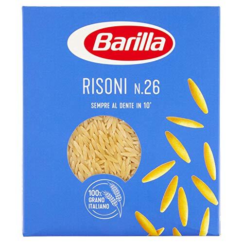 Barilla - Risoni n.26, Hartweizengrieß Pasta - 8 Packungen à 500 g [4 kg]