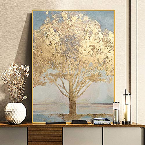 wZUN Abstract oil painting living room simple abstract rich tree European-style American large porch 60x132 Frameless