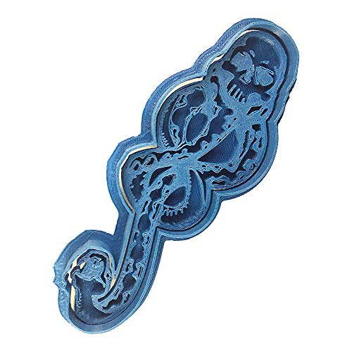 Cuticuter Marca Tenebrosa Harry Potter Cortador de Galletas, Azul, 8x7x1.5 cm