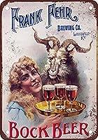 フランクフェールボックビールヴィンテージレトロメタルサイン2