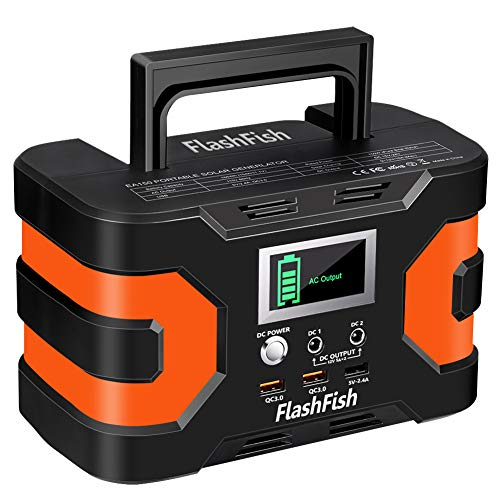 FlashFish ポータブル電源 大容量 家庭用蓄電池 45000mAh/166Wh AC(200W) DC(120W) 小型発電機 USB出力 純正弦波 急速充電QC3.0搭載 三つの充電方法 ソーラー充電 ポータブルバッテリー キャンプ 車中泊 地震