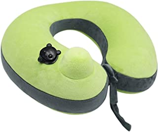 YUTRD Neck Pillow for Airplane Sleeping Memory Foam Adjustable Travel Pillows with Storage Bag, Sleep Heads from Falling
