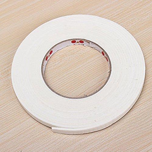 Schaumstoff-Dichtungsband, 18 mm x 5 m, weicher, selbstklebender Schaumstoff-Zugluftstopper, Tür, Fenster, stoßfest, Anti-Kollisions-Dichtungsband, 2 mm dick, weiß