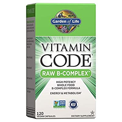 Garden of Life Garden of Life Vitamin B Complex - Vitamin Code Raw B Vitamin Whole Food Supplement, Vegan, 120 Capsules