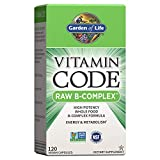 Garden of Life Vitamin B Complex - Vitamin Code Raw B Complex - 120 Vegan Capsules, High Potency B Complex Vitamins for Energy and Metabolism with B6, Folate, B12 as Methylcobalamin plus Probiotics