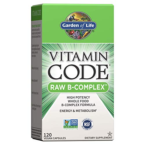 Garden of Life Vitamin B Complex - Vitamin Code Raw B Vitamin Whole Food Supplement, Vegan, 120 Capsules *Packaging May Vary*