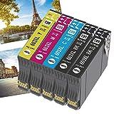 OGOUGUAN 603XL Cartuchos de repuesto para 603 XL cartuchos compatibles con Expression Home XP-2100 XP-4100 XP-3100 XP-2105 XP-3105 XP-4105, WorkForce WF-2830 WF-2850 WF-2810 WF-2835(5 unidades)