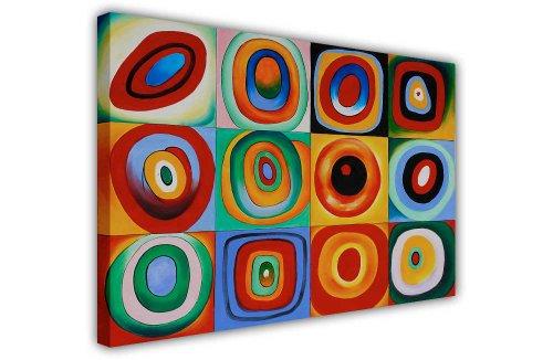 CANVAS IT UP First Art Source de Wassily Kandinsky Obra Maestra Lienzo Impresiones de Fotos decoración de la habitación Classic Fotos Pintura al óleo Reimpresión