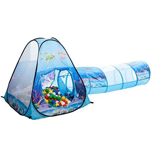 Unterwasserwelt Tunnel-Bällebad pop-up Zelt mit 150 bunten Bällen