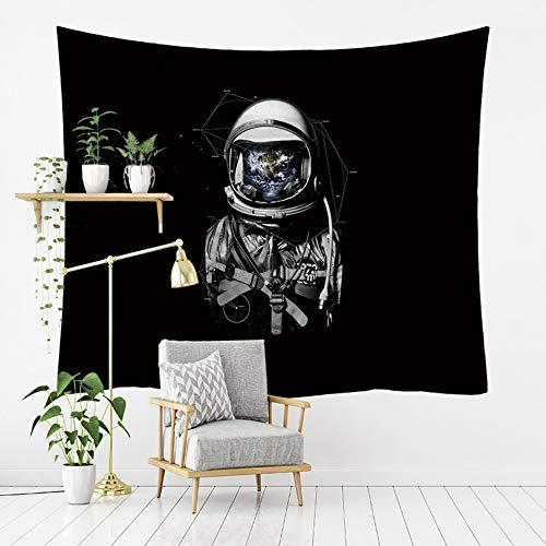 Wandtapijten, Astronaut en Ster Kaart, Boheemse Hippie Psychedelische Ruimte Spirituele Moderne Print Stof,Grote Maat Art Decoratieve Doek Voor Woonkamer Slaapkamer 200 × 150 cm