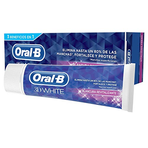 Oral-B 3D White Blancura Revitalizante Pasta Dentífrica, 75 ml