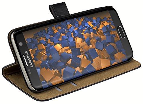 Produktbild mumbi Tasche Bookstyle Case kompatibel mit Samsung Galaxy S7 Edge Hülle Handytasche Case Wallet