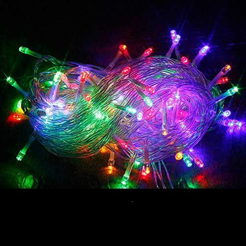 SACYSAC Led-buitenverlichting, snoer voor bruiloftsfeest, tuinterras, kerstverlichting, 8 verlichtingsmodi