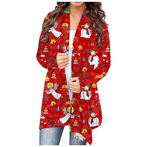 Women's Christmas Cardigan Outwear Long...