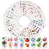 Qpout 72 Fogli Adesivi Per Nail Art,Decalcomanie Per Unghie Con Trasferimento d'Acqua, Per Donne Ragazze Bambini Fai Da Te Regali Per La Decorazione Del Salone Per Unghie (Più Di 2000 Pezzi) S2