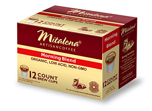 Mitalena Brand - 72 ct. Morning Blend Organic Arabica Low Acid Coffee Pods