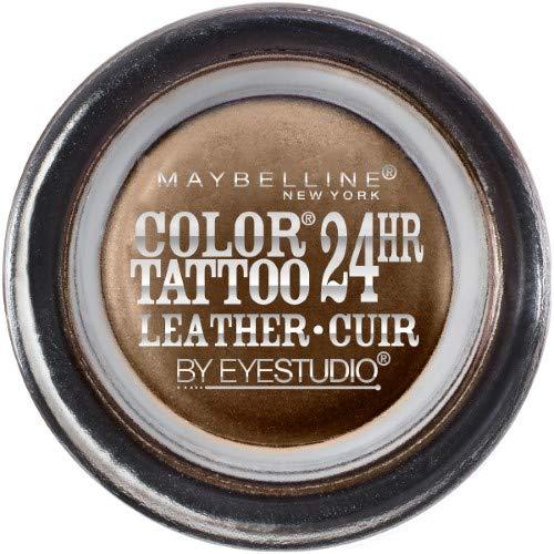 Maybelline Eye Studio Color Tattoo Leather 24Hr Cream Gel Eyeshadow, Chocolate Suede, 0.14 Oz. (Pack of 2)
