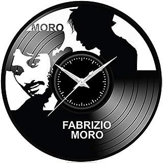Fusorario Orologio in Vinile da Parete LP 33 Giri Silenzioso Idea Regalo A Fabrizio Moro