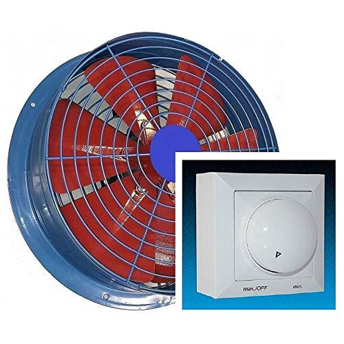 Uzman-Versand FS 600mm Industrie Wandventilator mit 500Watt Drehzahlregler Axial Ventilator Lüfter Wand Metallventilator Einbaulüfter Axialventilator Axialgebläse