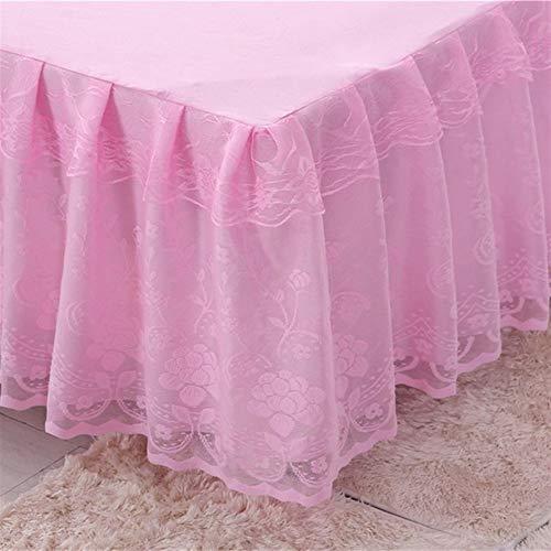 CXJYBH Color de Cama de algodón de la Falda, Cubierta de colchón, Ropa de Cama, de algodón Bedsheet Set Twin Queen Cama King Size situados a 150/180 / 200x200cm FaldóN Volantes