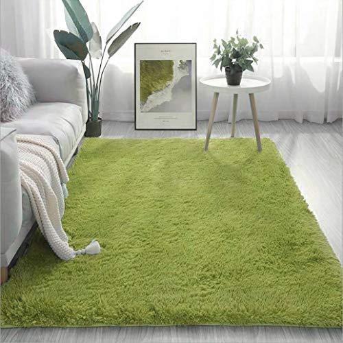 BOYASEN - Alfombra de interior ultra suave y moderna para sala de estar, alfombra para niños, dormitorio, decoración del hogar, guardería (1,5 x 2,1 m), color verde