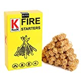 RedK Fire Starters-Charcoal Starters Wood Long Burning Natural Kindling for Fireplace,Campfire,Fire Pit, BBQ Grill,Wood Pellet Stove,Log Burner,Pizza Oven,Smokers (60 Pcs)
