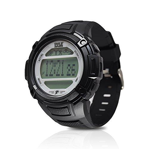 Pyle Multifunktions-Schlafüberwachung, Schrittzähler, LED-Hintergrundbeleuchtung, Sport-Armbanduhr, PAST44SL, Silber
