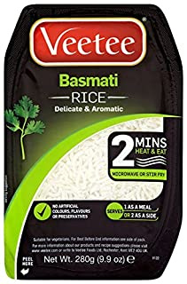 VeeTee - Basmati Rice - Microwavable Rice, 280g (Pack of 6) (B0042YIEW6)   Amazon price tracker / tracking, Amazon price history charts, Amazon price watches, Amazon price drop alerts