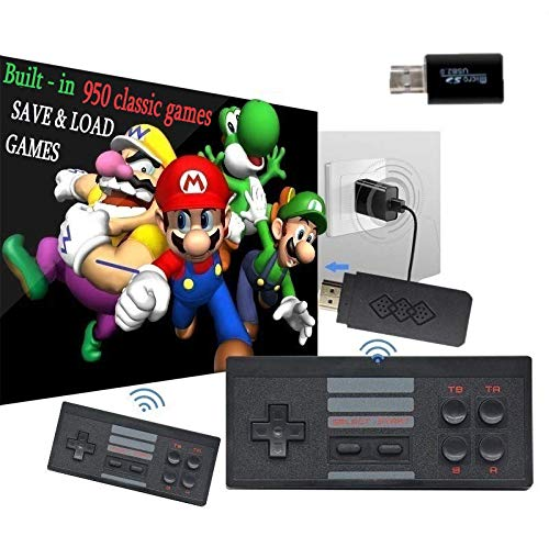 Gamebound 950 Classic Retro 8-Bit Games 4K Stick Console Console,2 Wireless Controllers, save and load games