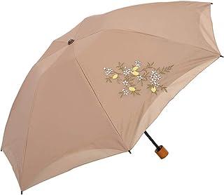 日傘 花紀行 折りたたみ 遮光 遮熱 UVカット 3段折りたたみ日傘 晴雨兼用傘 軽量 如意 刺繍